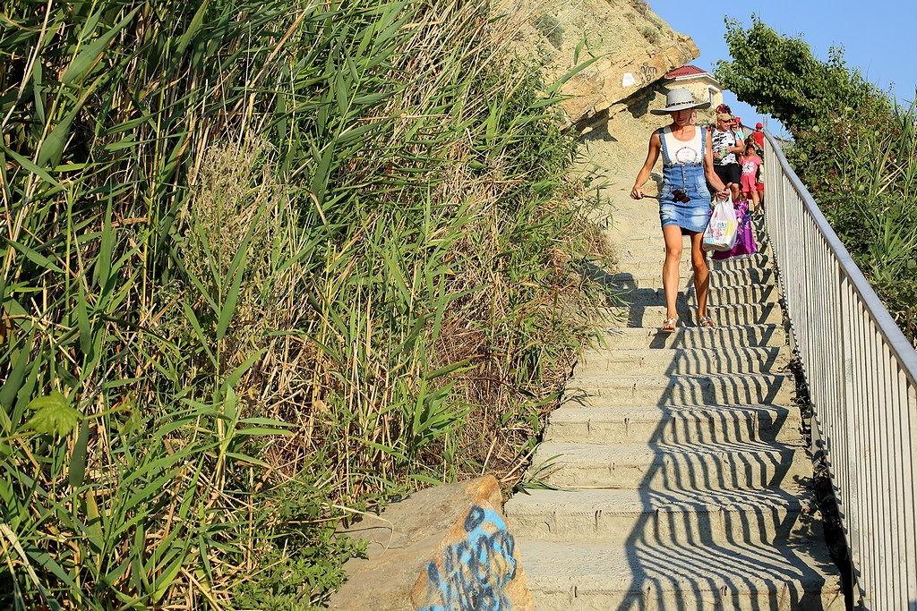 Анапа. спуск к пляжу