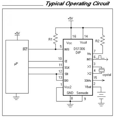 ds1306 типовая схема включения