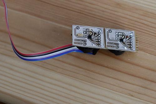 печатная плата часов на ds1394 в сборе с подключением к микроконтроллеру