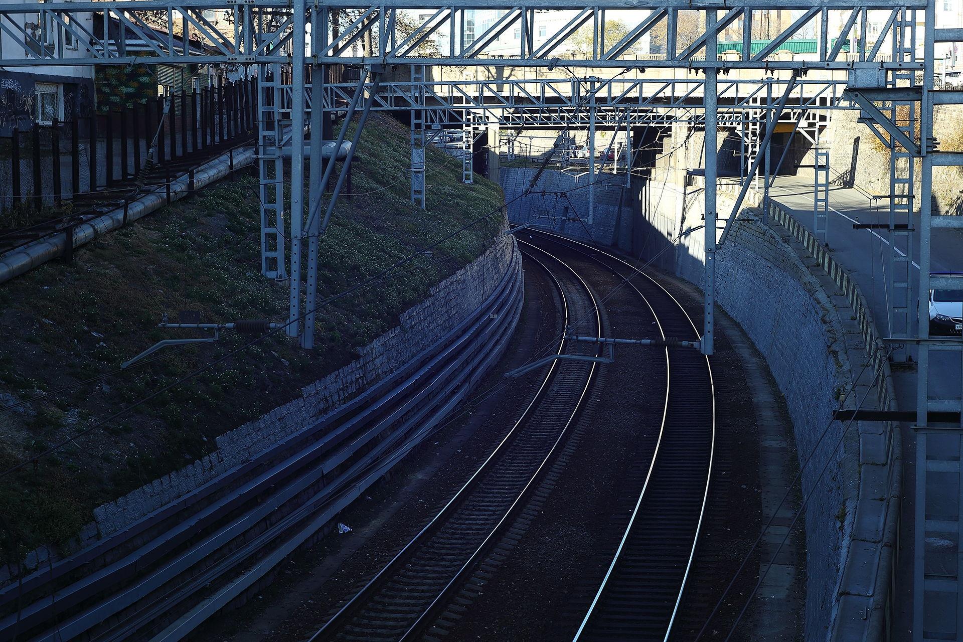 Владивосток, железная дорога под городом